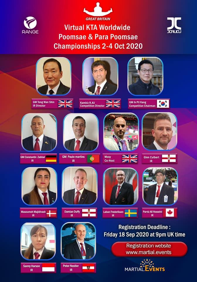 Poster: Virtual KTA Worldwide Poomsae Championships 2020, IR-Team