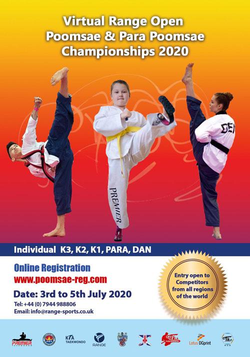 Poster: Virtual Range Open Poomsae and Para-Poomsae Championships 2020