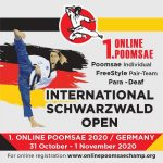 Foto: International Schwarzwald Open Poomsae 2020 online
