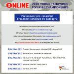 Foto: Online 2020 Taekwondo World Poomsae Championships - Zeitplan Vorrunde
