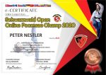 Foto: Schwarzwald Open Poomsae 2020, Referee Certificate Peter Nestler