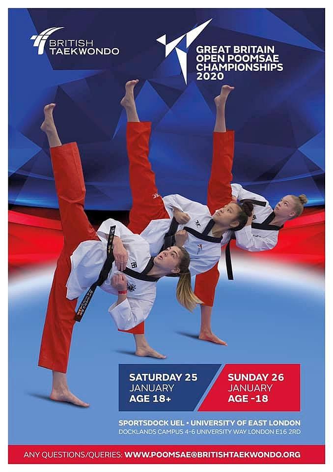 Foto: British Open Poomsae 2020, Poster