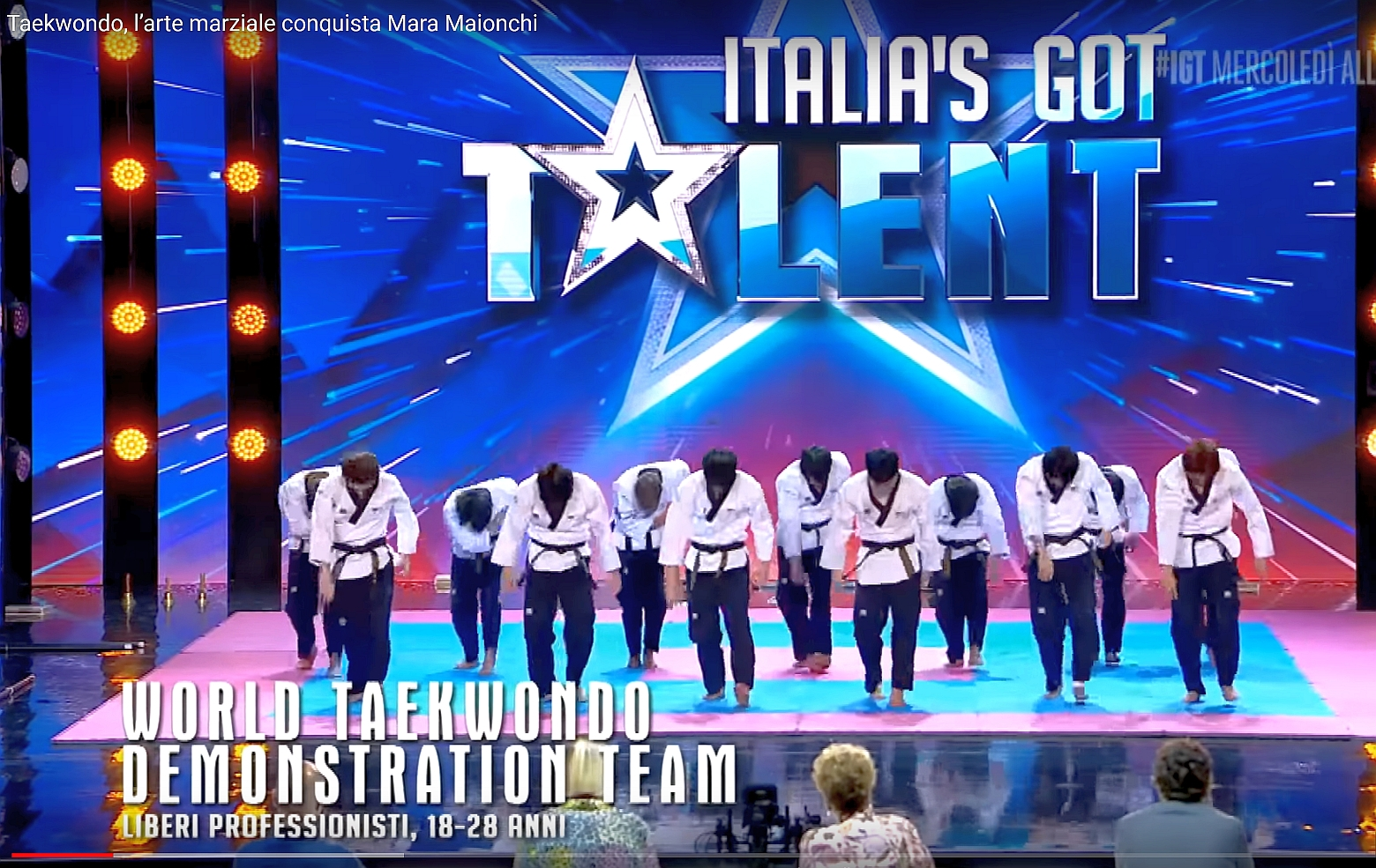 "Foto: Taekwondo Show bei ""Italia's got Talent"""