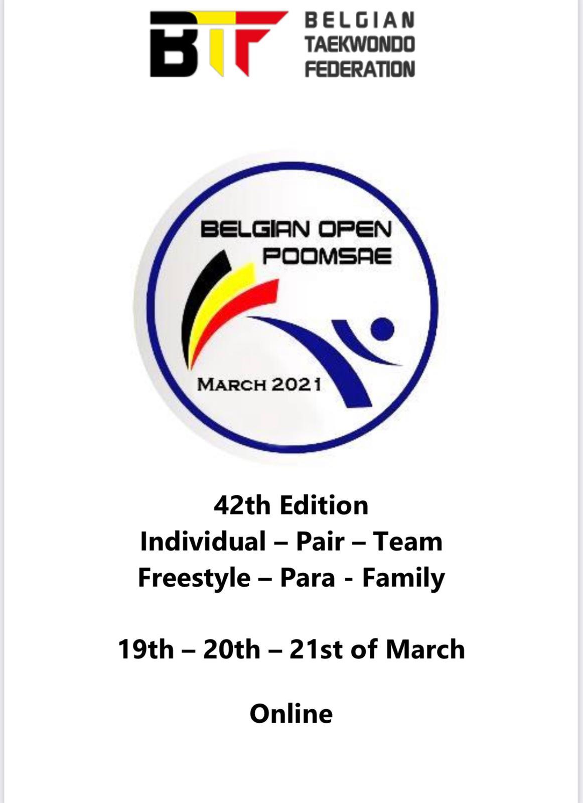 Foto: Belgian Open Poomsae 2021 Poster