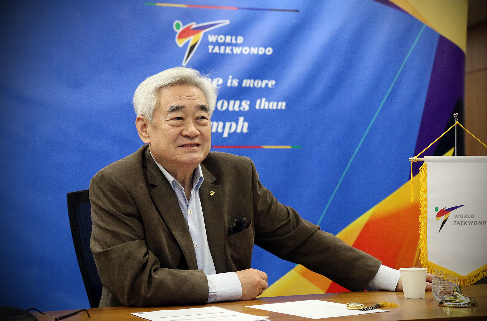 Foto: Chungwon Choue hat derzeit eine vierte Amtszeit als World Taekwondo President © World Taekwondo