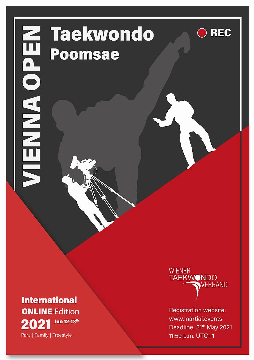 Poster: Vienna International Open Poomsae Championships 2021, web