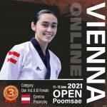 Foto: Bronzemedaille für Carmina Presinszky bei den Vienna International Open Poomsae Championships 2021