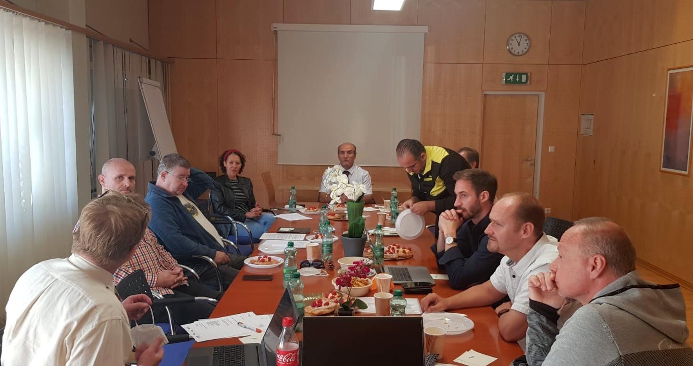 Foto: Peter Nestler bei der Generalversammlung des Wiener Taekwondo Verbandes 2021