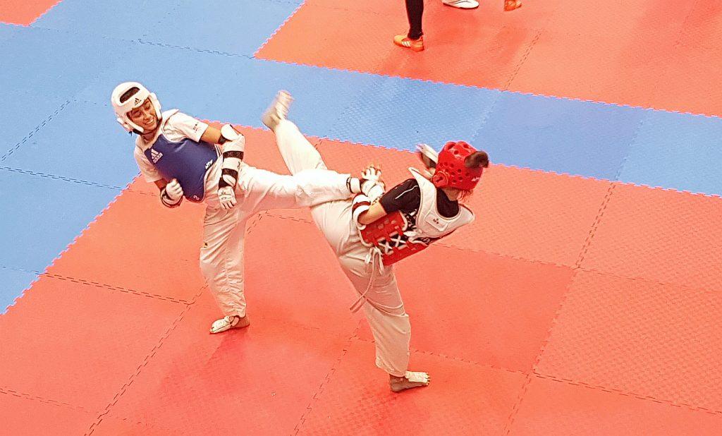 Foto: Wettkampftraining Kyorugi, Carmina Presinszky von DOJANG Wien Taekwondo
