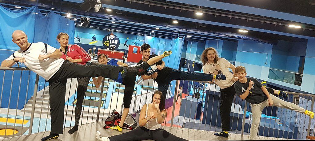 Foto: DOJANG Wien Taekwondo Team im Fliplab